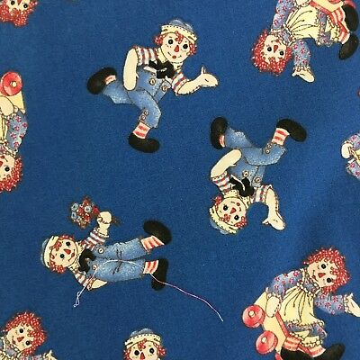 """Raggedy Ann & Andy Quilting & Craft Material Lot Of 4 17""""x22"""""""