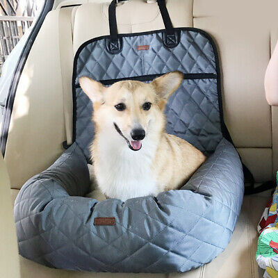 Portable Pet Booster Seat Non-skid Pet Car Seat with Seat Belt Pet Car Lounge