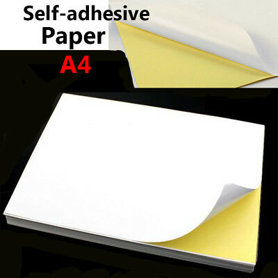 A4 Glossy/Matte/Kraft Self-adhesive Paper Inkjet Laser Sticker Label Print Lot