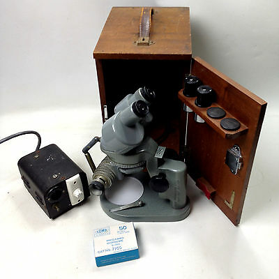 Vintage WATSON BARNET MICROSCOPE In Wooden Case With Accessories England 128088