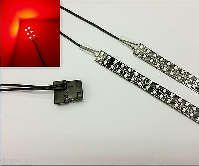 Red Pc Modding Led Case Light (Twin 40Cm Strips) Molex 60Cm Tails Quad Density