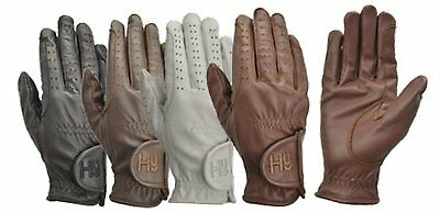 Hy5 Children's Leather Riding Gloves Black, Brown, White Or Light Brown Sizes
