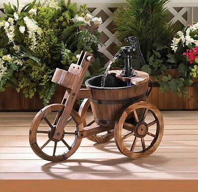 Tricycle Water Fountain, Beautiful Outdoor Water Fountain Backyard Garden Decor