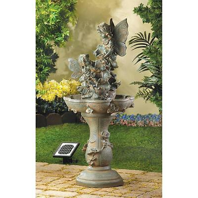 Fairy Solar Outdoor Water Fountain With Pump For Your Backyard Garden Decor