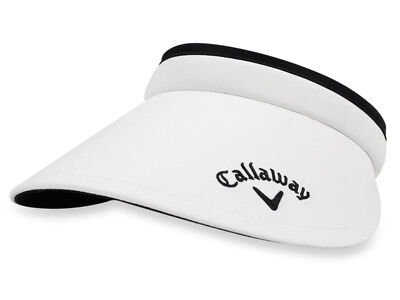 Callaway Ladies Large Brim Clip Visor - White