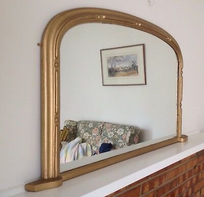Antique Overmantle/fireplace  Pier Mirror .. Mantlepiece , Sideboard