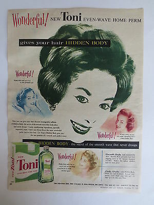 Vintage advertising original 1950s Australian ad TONI HOME PERM LOTION beauty