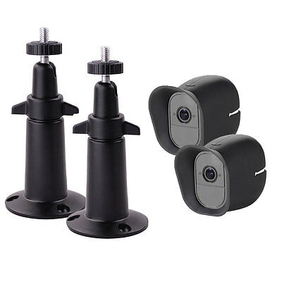 2packs Silicone Skins Protective Case + Security Wall Mount For Arlo Pro (2)CAMS