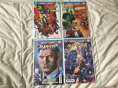 Justice League Vs Suicide Squad Tie-ins -Justice League 12 13 Suicide Squad 9 10