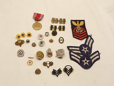 Military Insignia, Patches, Pins, Bars, Lot Of 25+