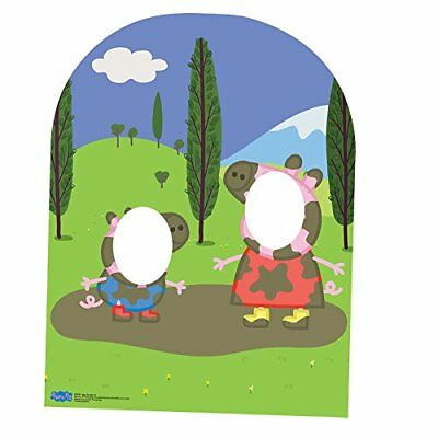 Star Cutouts SC822  Peppa Pig and George Muddy Puddle Child Sized Stand In  Card
