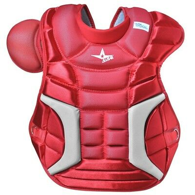 (18.5 inches, Scarlet) - All Star Adult Ultra Cool Pro Premium Chest Protectors.