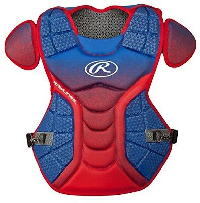 (Royal/Scarlet) - Rawlings Sporting Goods Catchers Chest Protector Velo Series I