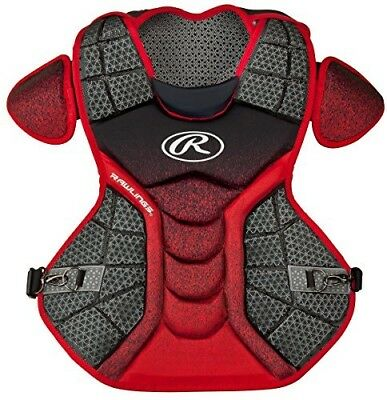 (Black/Scarlet) - Rawlings Sporting Goods Catchers Chest Protector Velo Series