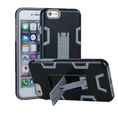 (Black+Grey) - iPhone 6 Case, iPhone 6S Case, VPR 2 In 1 Hybrid Dual Layer Plast