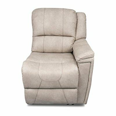 Left Arm Recliner, Cougar 2016, Grantland Doeskin, W/ T700 Chocolate Topstitch