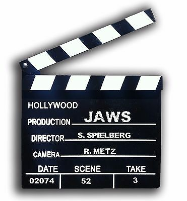 Clapperboard - Hollywood directors style. - 200mm x 180mm. Chalk included