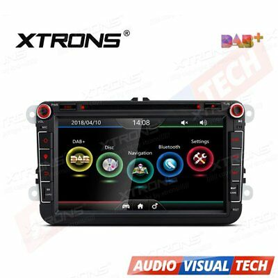 "XTRONS 8"" DAB+ Car DVD Player Sat Nav GPS VW PASSAT GOLF MK5 MK6 T5 POLO Skoda"