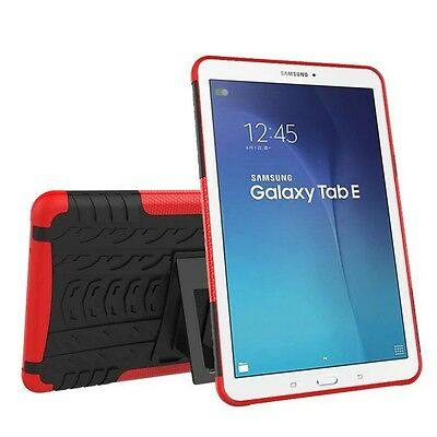 Hybrid Outdoor Protective Case Red for Samsung Galaxy Tab E 9.6 SM T560 Pouch