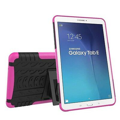 Hybrid Outdoor Case Shocking Pink for Samsung Galaxy Tab E 9.6 SM T560 Pouch