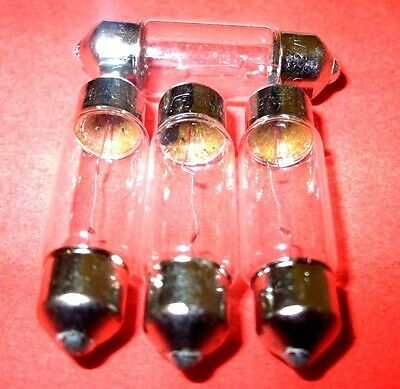 NEW 10 X BLB270  270 12 VOLT 18W FESTOON SV8.5 LIGHT BULB 43MM X 15MM INTERIOR