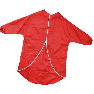 Red Half - Length Sleeves Children`s Paint Apron 60cm Suitable for Classroom use