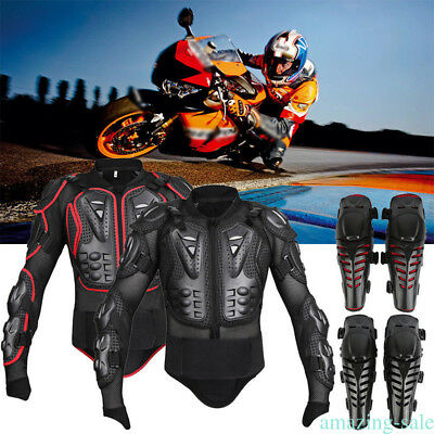 Motorcycle Protection Armor Spine Chest Shoulder Full Body Jacket Racing Gear CP