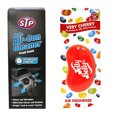 STP Auto Air-Con Cleaner 150ML Purifier + Very Cherry Jelly Belly Air freshener