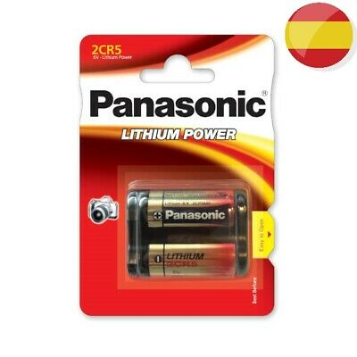 1 Pila Panasonic (6V) 2Cr5 Dl245El El2Cr5 2Cr5R Kl2Cr5 Lithium Battery