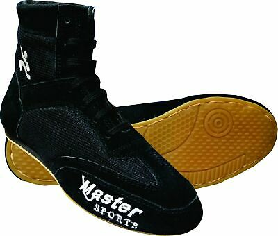 Master Sports Boxing Shoes Cheetah Suede Leather Boot Light Weight Mesh Unisex