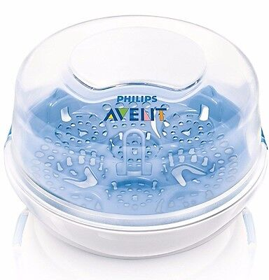 Philips Avent Scf281/02 Microwave Steam Compact Bottle Sterliser Bpa Free Baby