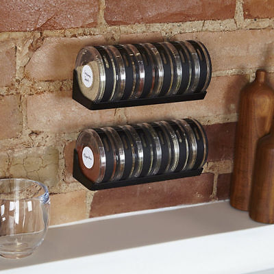 New Seasoning Cans Cylindra Spice Rack Condiment Bottles Pepper Shakers Box Set