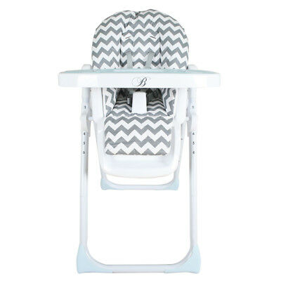Billie Faiers Premium Highchair in Slate Chevron, Adjustable Baby Feeding Chair