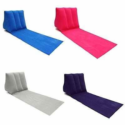 CAMTOA Chill Out Travel Inflatable Lounger,PVC Inflating Mat with Wedge Shape Ba