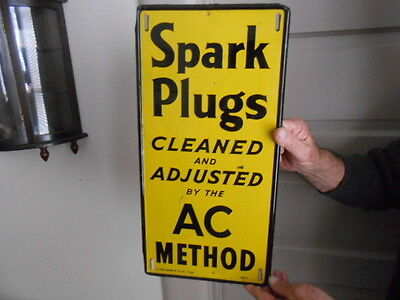 Vintage Sign AC Spark Plugs 1946 Original