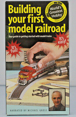 Building First Model Railroad Michael Gross 4x8 HO Layout Color VHS Tape