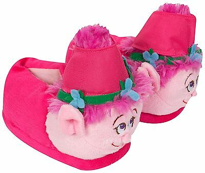 Dreamworks Brand New Official The Trolls Plush Pink Slippers