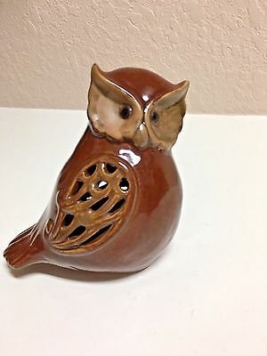 Ceramic Cute Painted Small Brown Decorative Owl