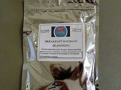 Breakfast Sausage seasoning ( Almost Famous) 8 oz for 25 lb meat (SPECIAL PRICE)