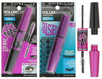Maybelline Volum Express Falsies Big Eyes Waterproof Dual Ended Mascara New