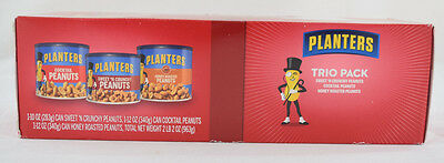 Planters Peanut Holiday Collection Trio Pack, 34 Total Ounces, Best By 12/28/17