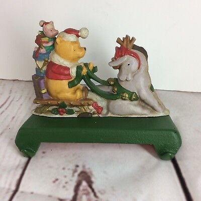 Midwest Cannon Falls Pooh and Eeyore on a Sled Double Stocking Holder Cast Iron