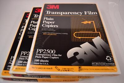 2 1/2 Boxes 3M Transparency Film PP2500 - 200+ Sheets - #R-01-001
