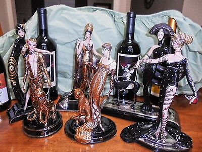 """Erte"" Figurines by Franklin Mint Plus others From Estate Good Condition"