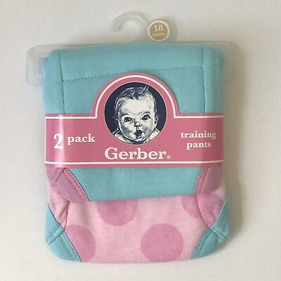 NEW Gerber Training Pants Toddler Girl 18 Months Pink Blue 2 Pack Potty Training