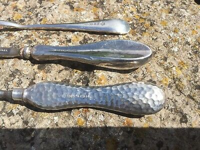 Antique Silver Manicure Tools, Antique Silver Handled Manicure Items