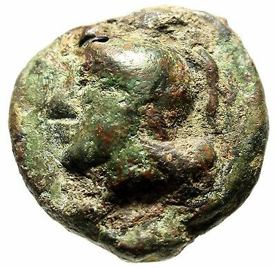 """Republic AEs Grave Anonymous Uncia """"Roma & Prow"""" Libral Standard 225-217 BC VF"""