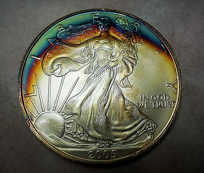 2005  American Silver Eagle  Beautifully Toned