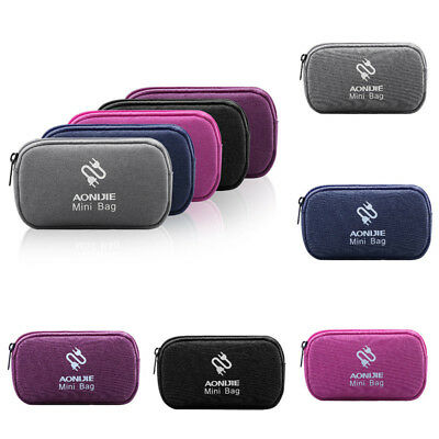 Portable Earphone Data USB Cable Travel Case Organizer Pouch Storage Package Bag