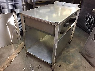 Rolling Commercial Donut Doughnut Icing Dipping Glazing Glazer Cart Table